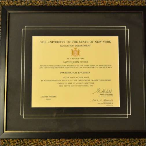 Diploma Frame Black Matte with VGroove
