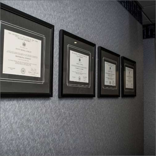 Framed Certificates with Grey Mattes and VGroove (1)