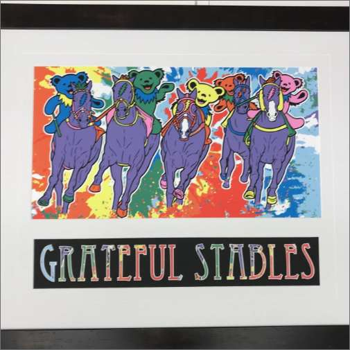 A poster called Grateful Stables