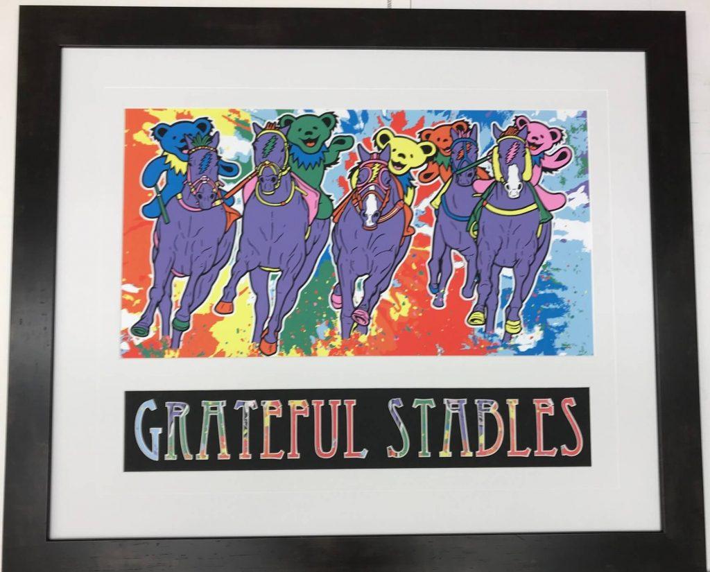 A colorful Grateful Dead poster