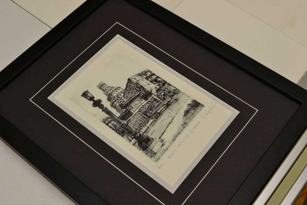 Print with two mattes, VGroove and frame