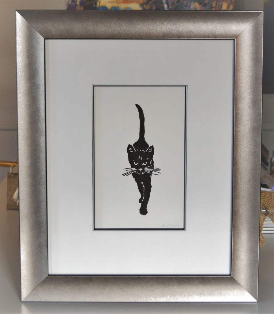 Silver frame, linen matte, silver/black fillet