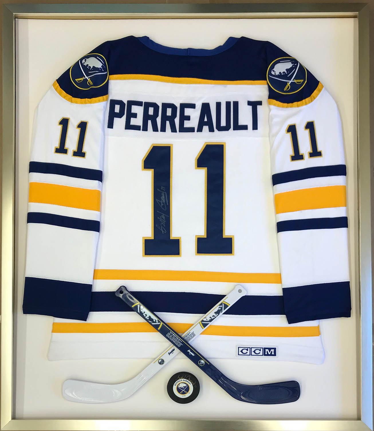 Framed Perreault Hockey Jersey