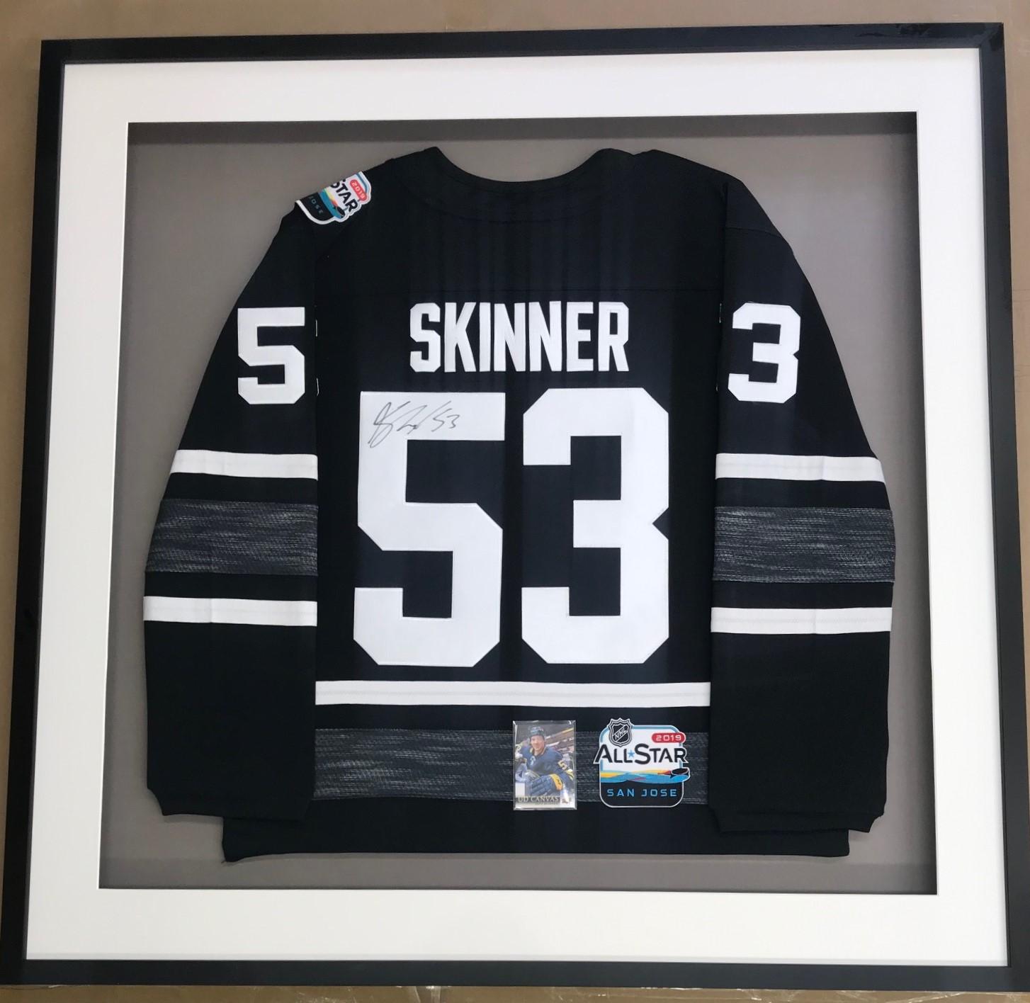 Framed Skinner Hockey Jersey