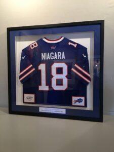 Framed Niagara Chocolates Bills Jersey