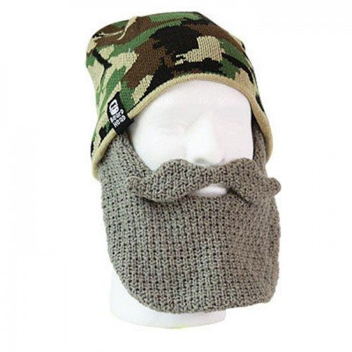 A hat with a beard face mask