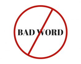 """The words """"bad word"""" crossed out"""