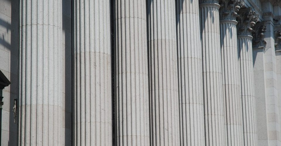 Columns in front of the supreme court building