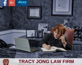 Tracy Jong at her desk