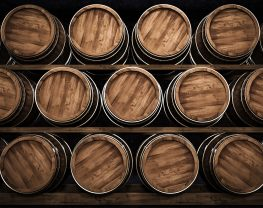 Wooden winemaking barrel 3d illustration