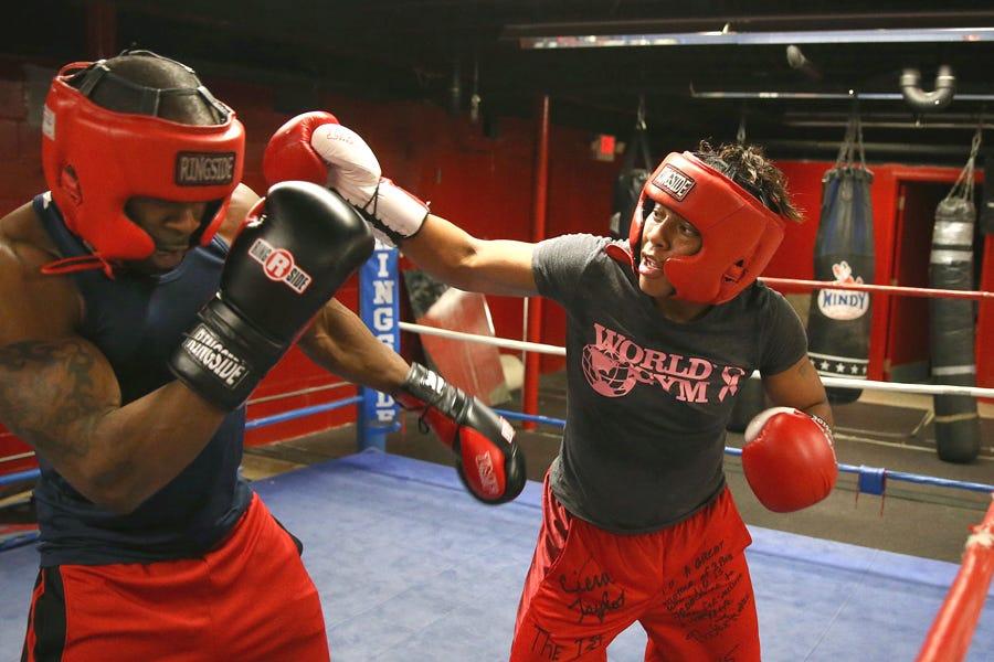 A training boxing match