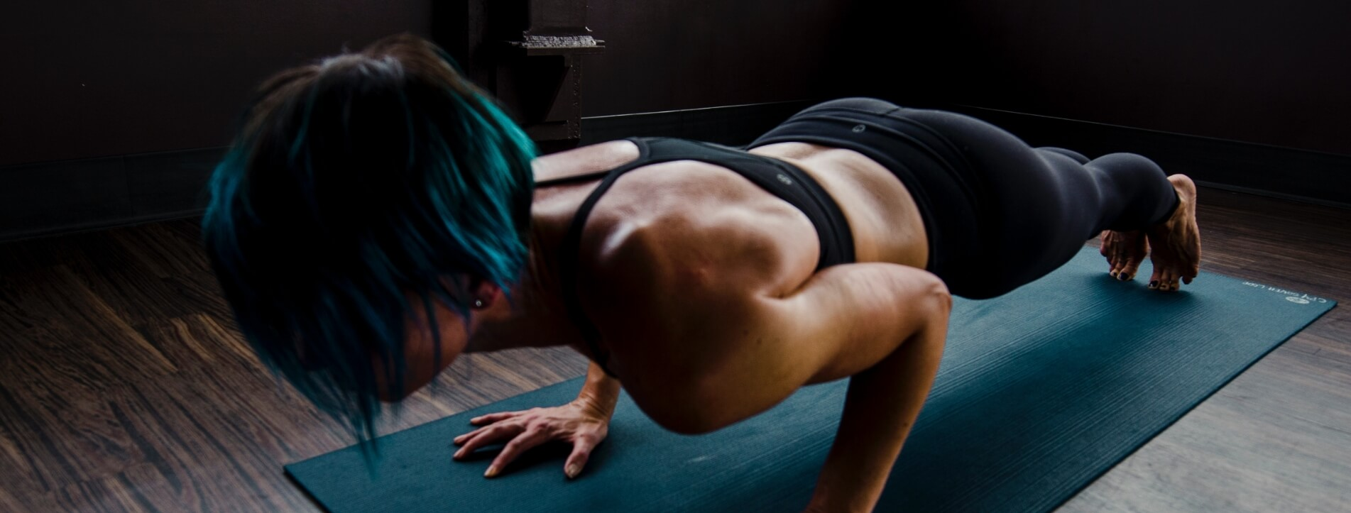 A person doing push-ups