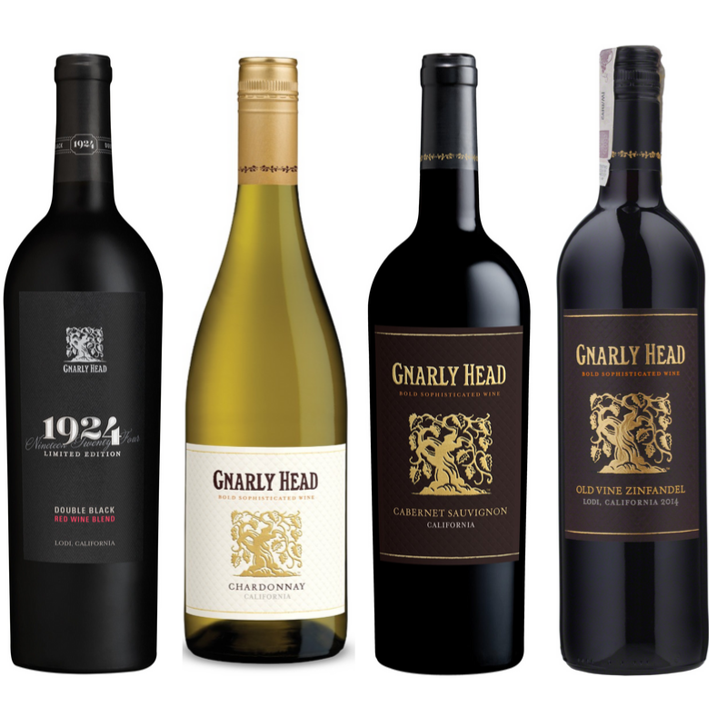 bottles of gnarly head wines