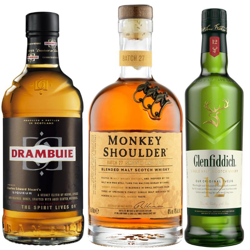 bottles of scotch