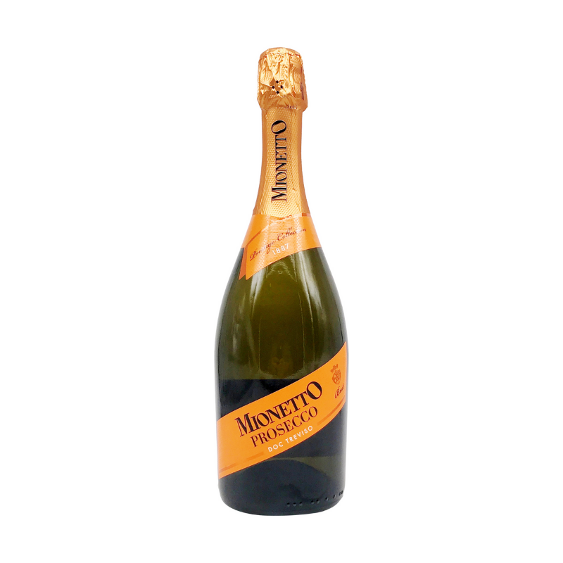 a bottle of mionetto prosecco