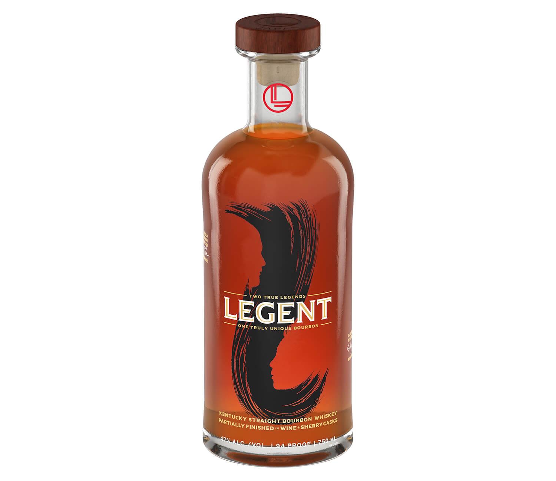 A handsome bottle of Legent Bourbon