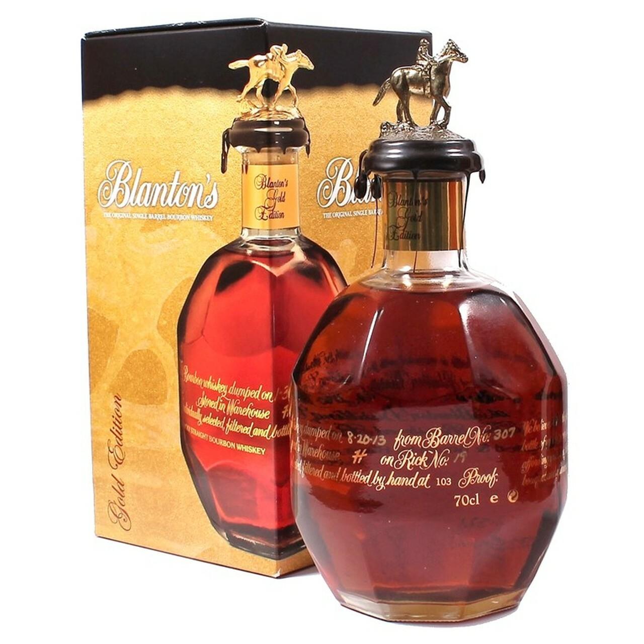 A bottle of Blanton's Gold