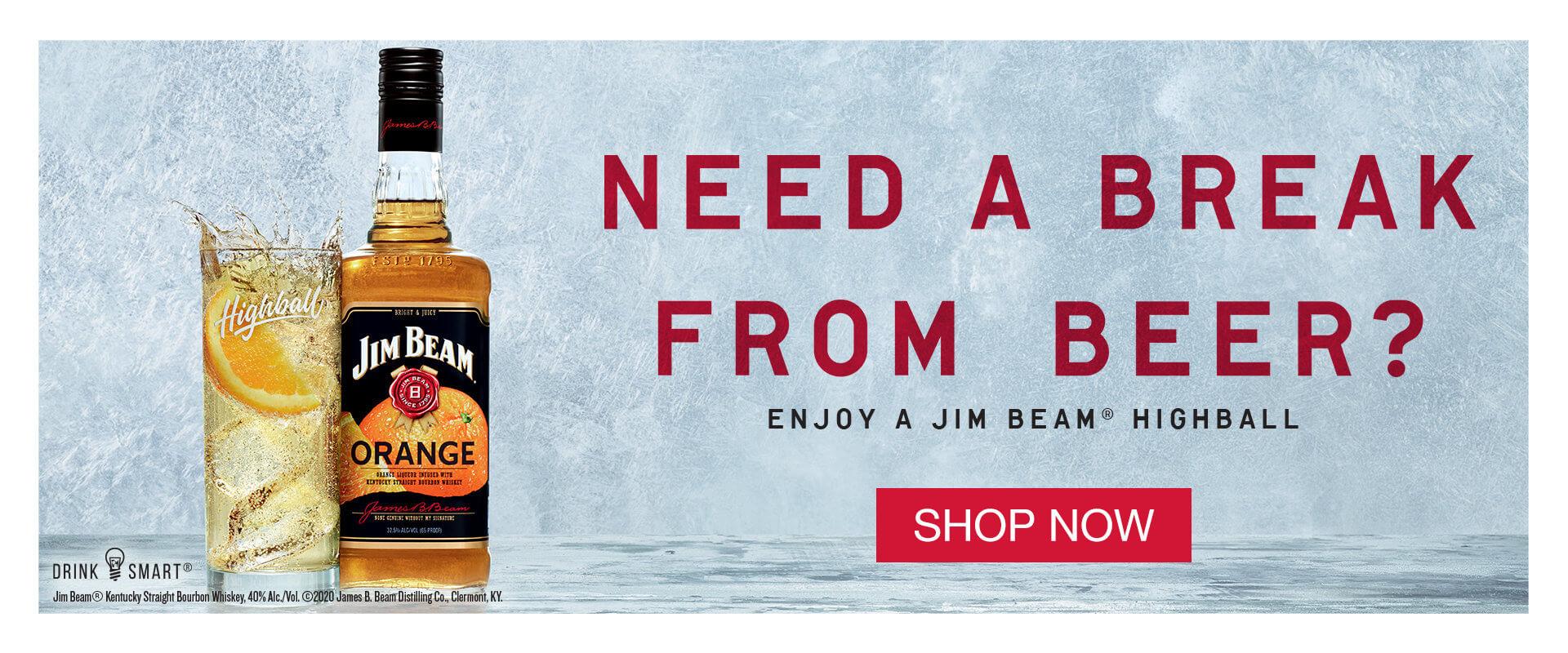 Need a break from beer?  Enjoy a Jim Bean Highball